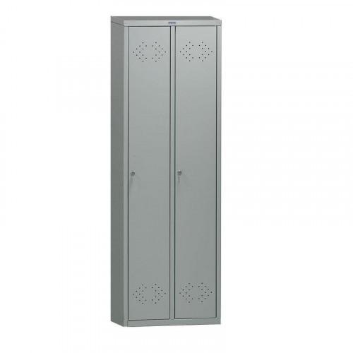 Металлический шкаф для одежды ПРАКТИК LE-21 575х500х1830 мм 2 отделения