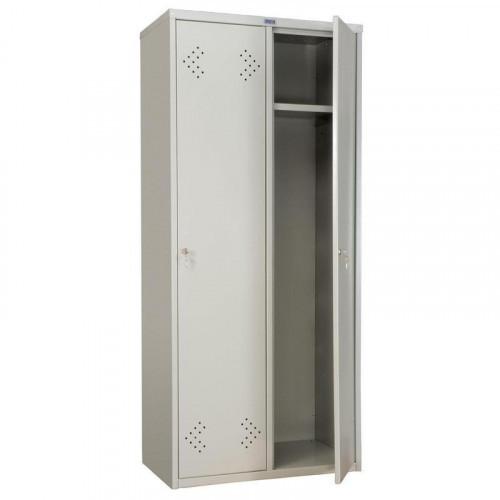 Металлический шкаф для одежды ПРАКТИК LE21-80 813х500х1830 мм 2 отделения