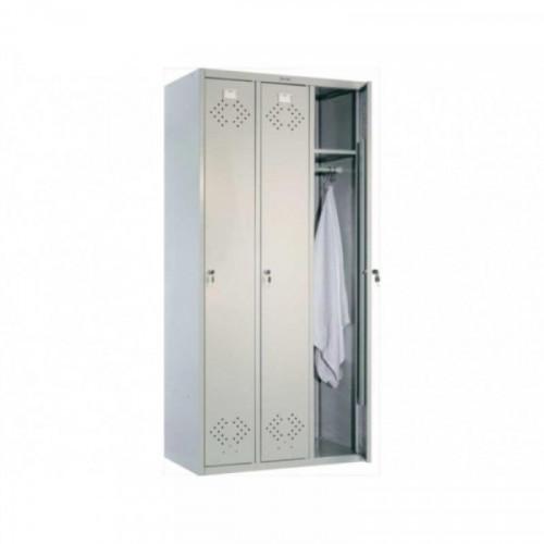 Металлический шкаф для одежды Практик LS-31 850x500x1830 мм 3 отделения