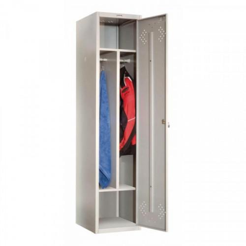 Металлический шкаф для одежды Практик LS-11-40D 1 дверь 418х500х1830 мм