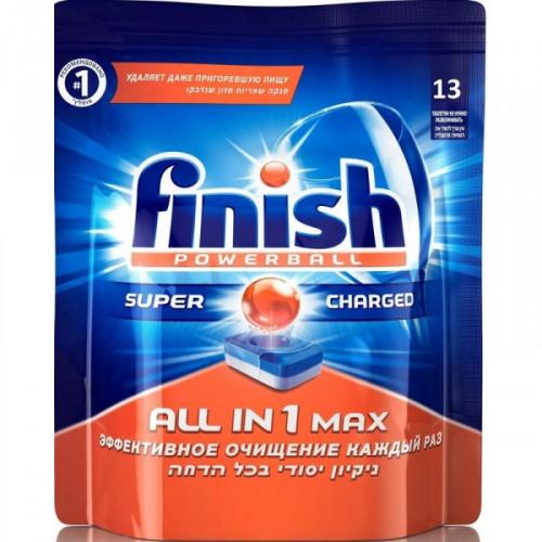 Таблетки для посудомоечных машин Finish Powerball All in 1 Max 13 штук в упаковке