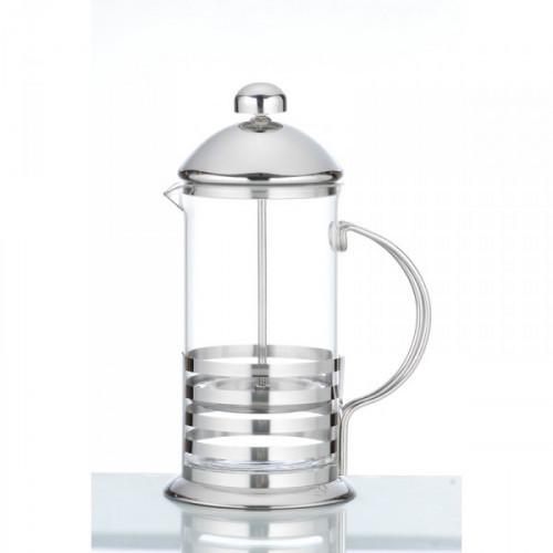 Френч-пресс жаропрочное стекло/хромоникелевая нержавеющая сталь 1000 мл