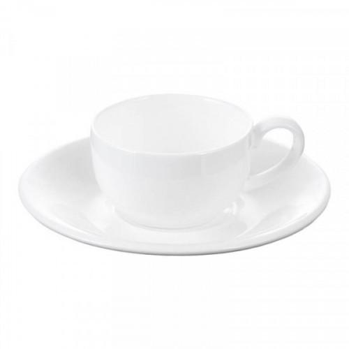 Кофейная пара Wilmax фарфоровая белая чашка 100 мл/блюдце (артикул производителя WL-993002)