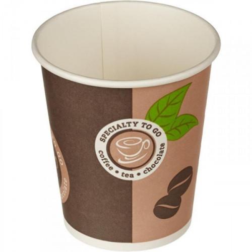 Стакан одноразовый Coffee-to-Go бумажный разноцветный на 200 мл 50 штук в упаковке