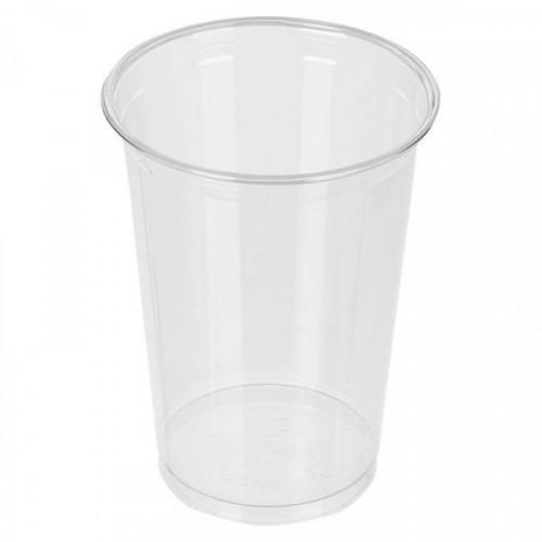 Стакан одноразовый пластиковый прозрачный 500 мл 50 штук в упаковке