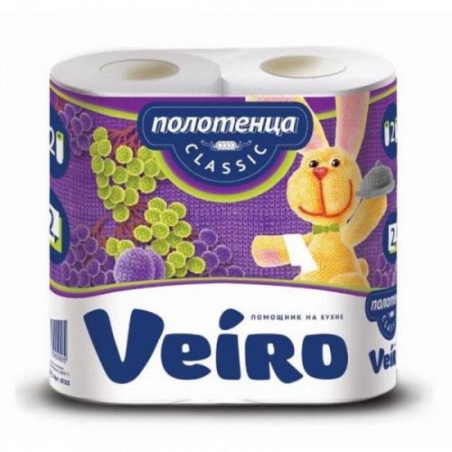 Полотенца бумажные Veiro Classic с тиснением двухслойные 2 рулона по 12,5 метров