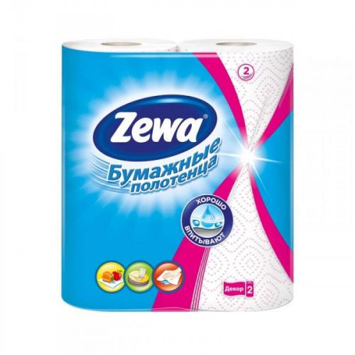 Полотенца бумажные Zewa с рисунком двухслойные 2 рулона по 15 метров