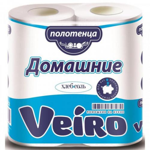 Полотенца бумажные Veiro Домашние с тиснением двухслойные 2 рулона по 12.5 метра