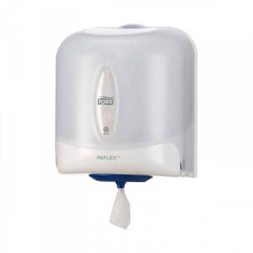 Держатель для рулонных полотенец Tork Reflex М4 473140 с центральной вытяжкой пластиковый белый