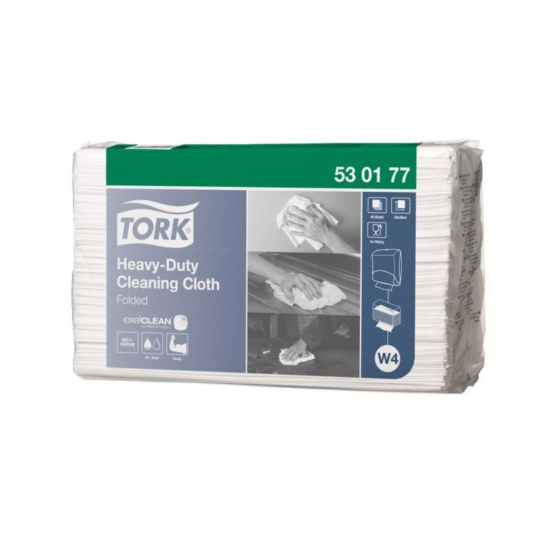 Нетканый материал повышенной прочности универсальный Tork W4 белый 60 листов в упаковке