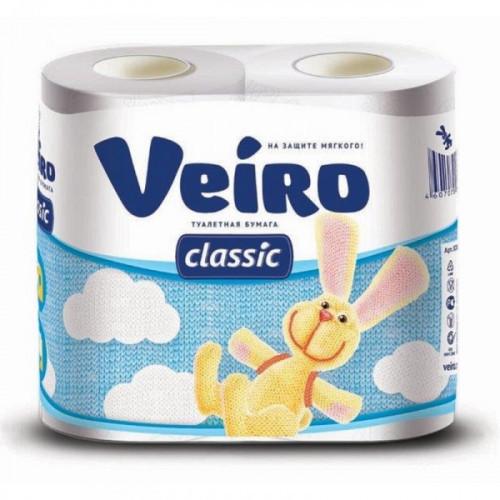 Бумага туалетная Linia Veiro Classic 2-слойная белая 4 рул/уп
