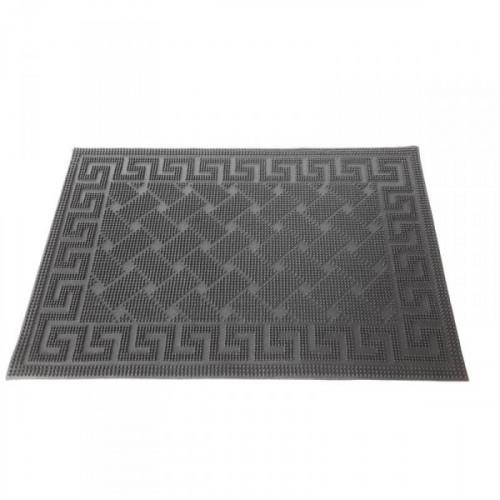 Коврик придверный резиновый 400х600 мм, с рисунком черный
