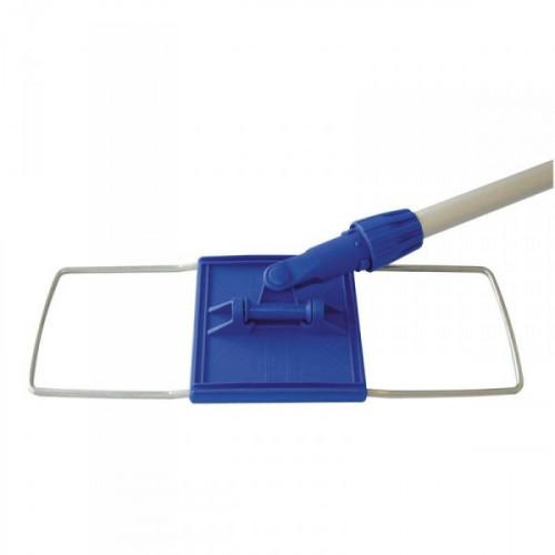 Швабра-флаундер для мытья пола размером 40х10 см стальная в сборе без насадки