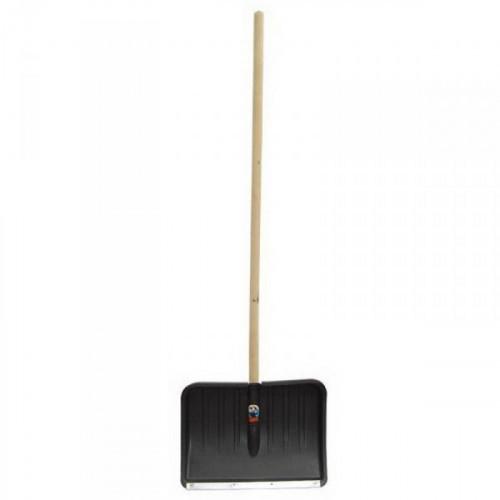 Лопата снеговая пластиковая 360х460 мм с черенком