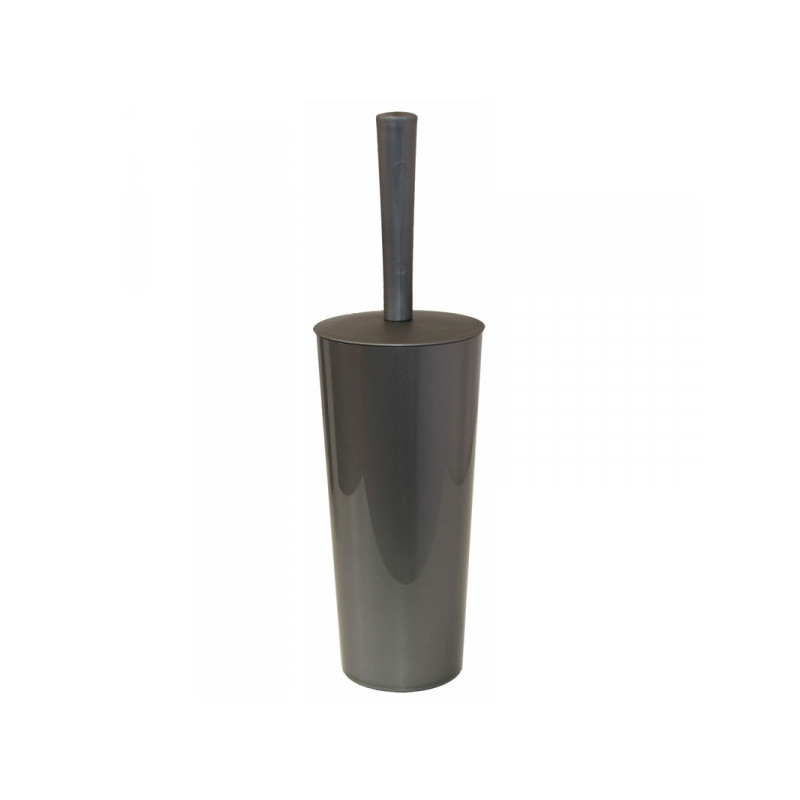 Ершик для туалета с закрытой колбой пластиковый цвета серый металлик