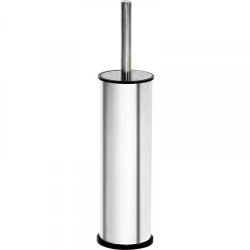 Ерш д/унитаза закрытый, подставка, цилиндр, сталь, зеркальный