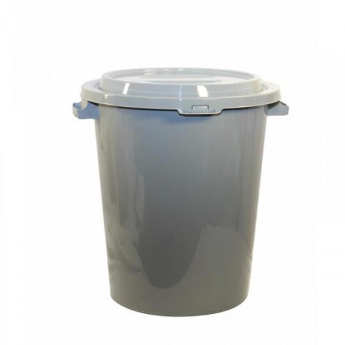 Бак для мусора 90 литров пластик серый