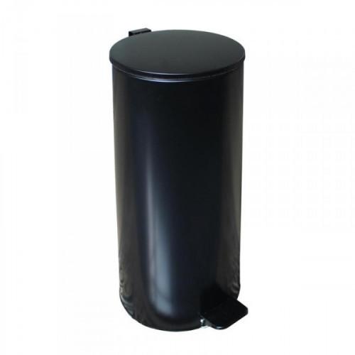 Урна с педалью стальная черная 250x600 мм 30 литров