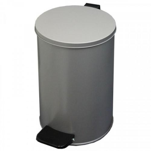 Урна 10 л стальная серый металлик 20x31 см