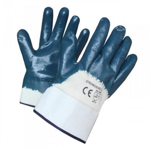 Перчатки с полным нитриловым покрытием с манжетой крага