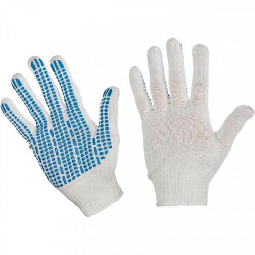 Перчатки трикотажные с ПВХ Протектор 4 нити 10 класс 42 г (10 пар в упаковке)