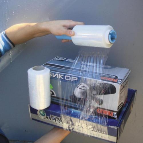 Стрейч-пленка для ручной упаковки 20 мкм 10 см x 125 м мини-ролл