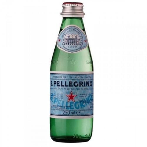 Вода минеральная San Pellegrino газированная 0.25 литра 24 штуки в упаковке