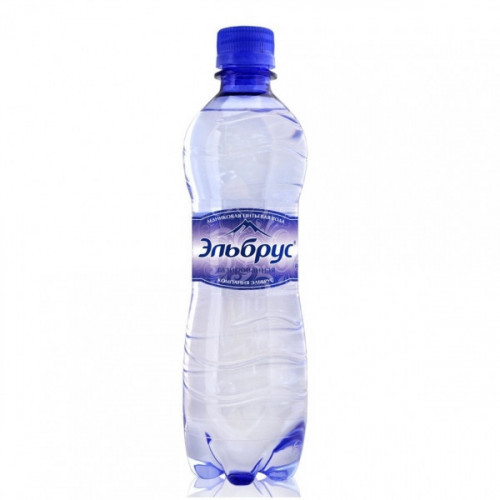 Вода минеральная Эльбрус газированная 0.5 литра 12 штук в упаковке