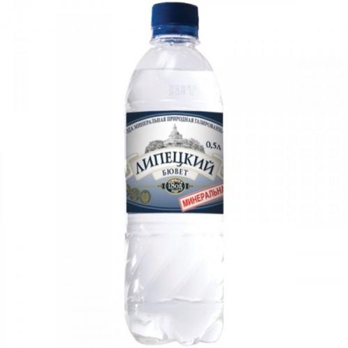 Вода минеральная Липецкий бювет газированная 0.5 литра 12 штук в упаковке