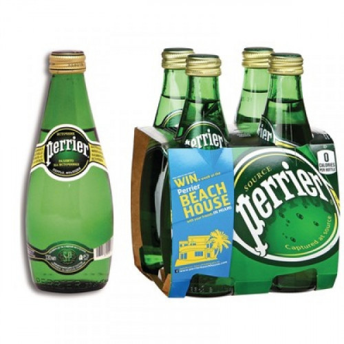 Вода минеральная Perrier газированная 0.33 литра 4 штуки в упаковке
