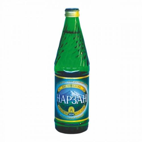 Вода минеральная Нарзан газированная 0.33 литра 20 штук в упаковке