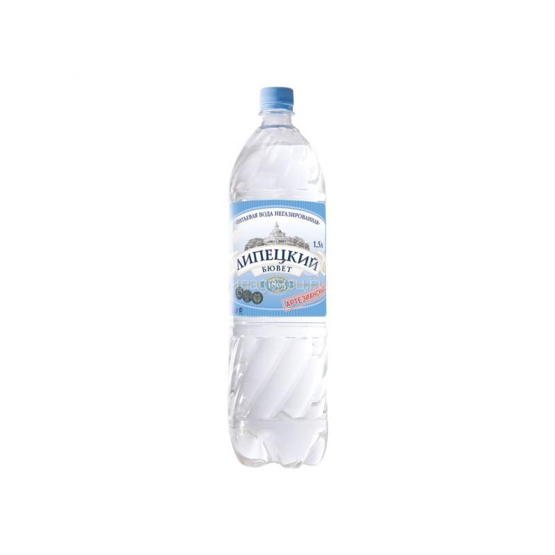 Вода минеральная Липецкий бювет газированная 1,5 литра 6 штук в упаковке