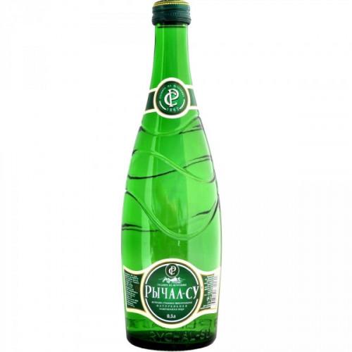 Вода минеральная Рычал-Су газированная 0.5 литра 12 штук в упаковке
