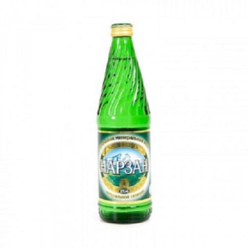 Вода минеральная Нарзан газированная 0.5 л (12 штук в упаковке)