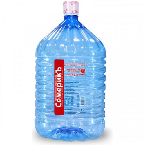 Вода питьевая Семерикъ 19л (одноразовая бутыль)
