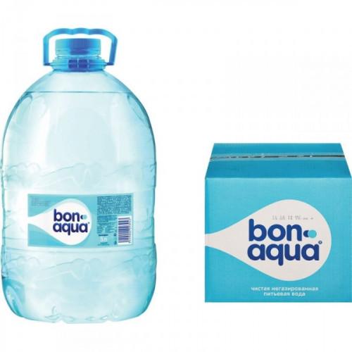 Вода питьевая Bon Aqua негазированная 5 литров 4 штуки в упаковке