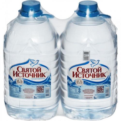 Вода питьевая Святой Источник негазированная 5 литров 2 штуки в упаковке