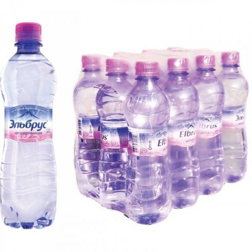 Вода питьевая Эльбрус негазированная 0.5 литра 12 штук в упаковке