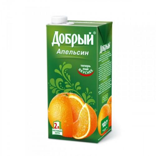 Нектар Добрый апельсин 2 литра