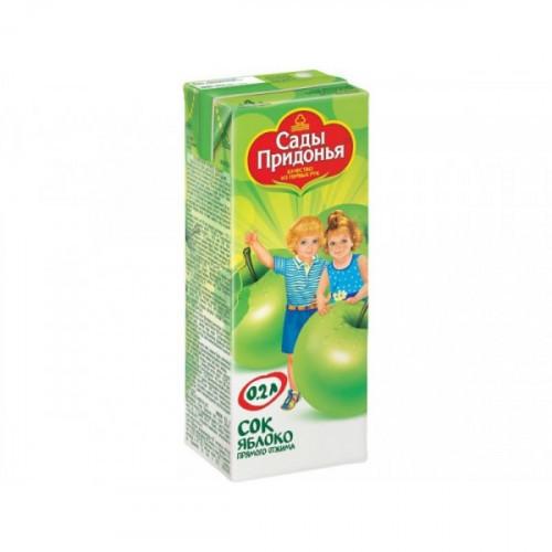 Сок Сады Придонья яблоко 0.2 литра 27 штук в упаковке