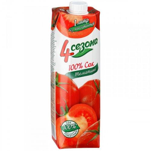 Сок 4 Сезона томат с мякотью 1 литр