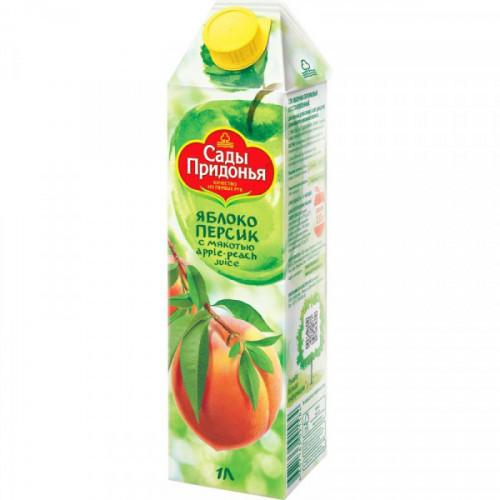 Сок Сады Придонья яблочно-персиковый с мякотью 1л