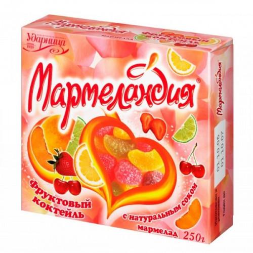 Мармелад Мармеландия фруктовый коктейль 250 грамм