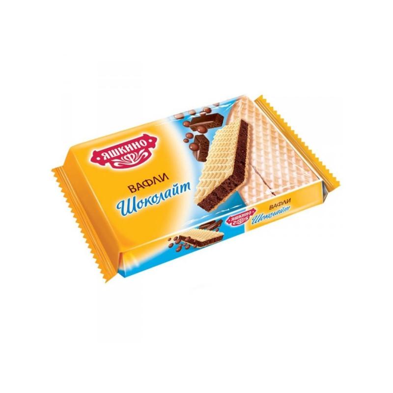 Вафли Яшкино Шоколайт 180 грамм