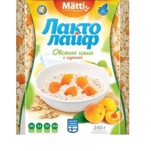 Каша Matti Лактолайф с Курагой 6 штук по 40 грамм
