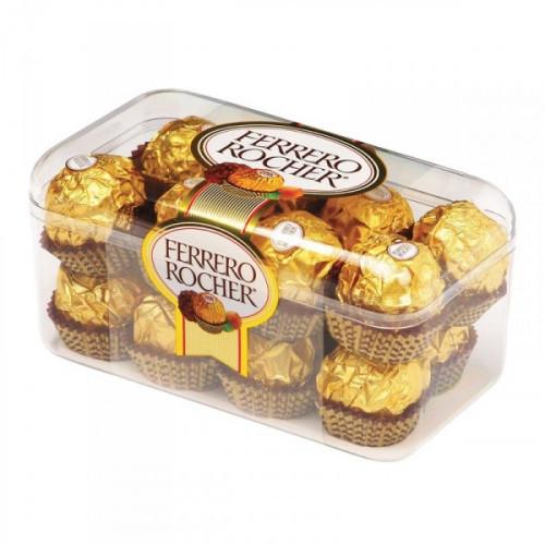 Конфеты шоколадные Ferrero Rocher с лесным орехом 200 грамм