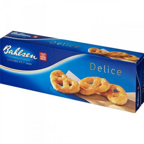 Печенье Bahlsen Delice сухое в форме крендельков 100 грамм