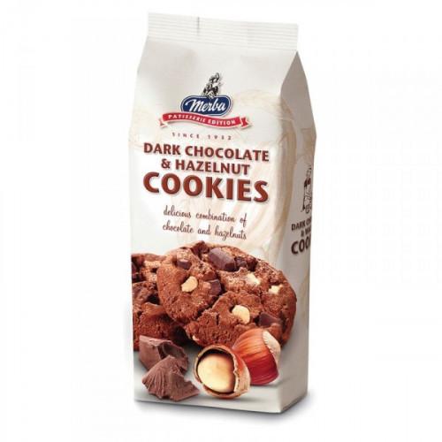 Печенье Merba с горьким шоколадом и фундуком 200 грамм