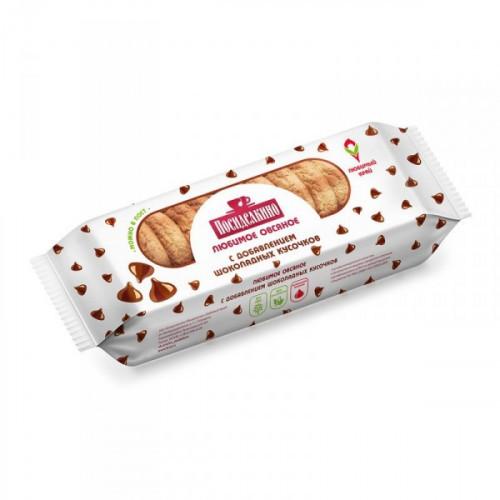 Печенье овсяное Посиделкино с шоколадными кусочками 310 грамм