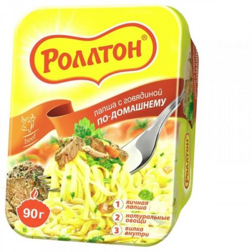 Лапша Роллтон по-домашнему со вкусом говядины 90 грамм